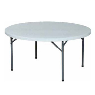 table ronde polyethylene 152cm et 178cm lorca