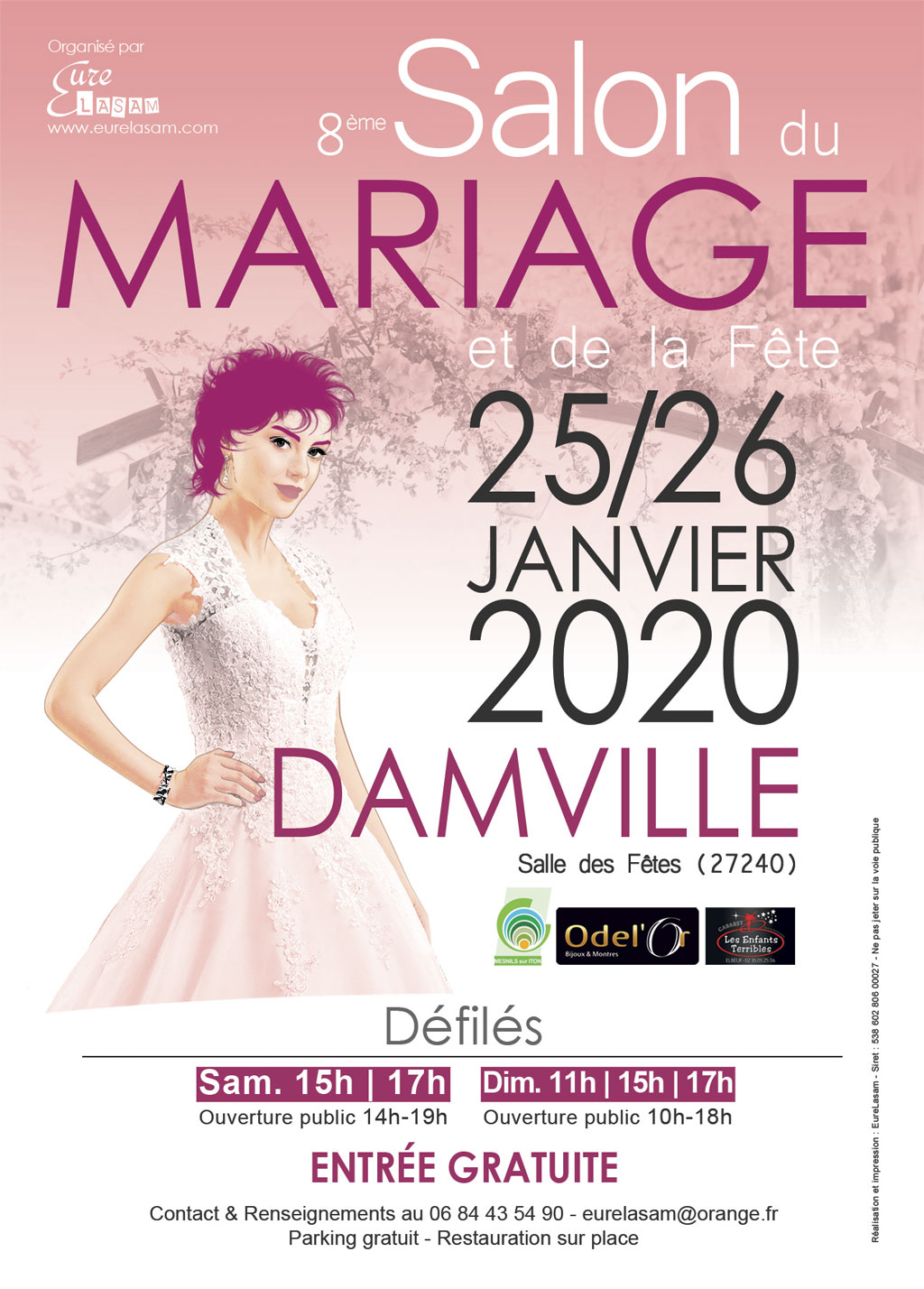 Salon Damville 2020 Rose poudré 50x70